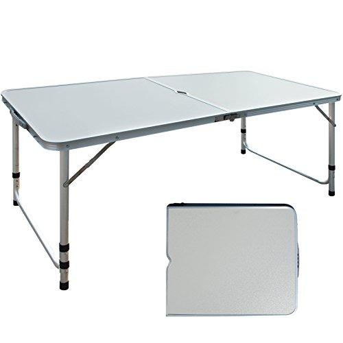 Uenjoy Folding 4ft Camping Table Potable Adjustable Picnic Dining Outdoor Aluminum