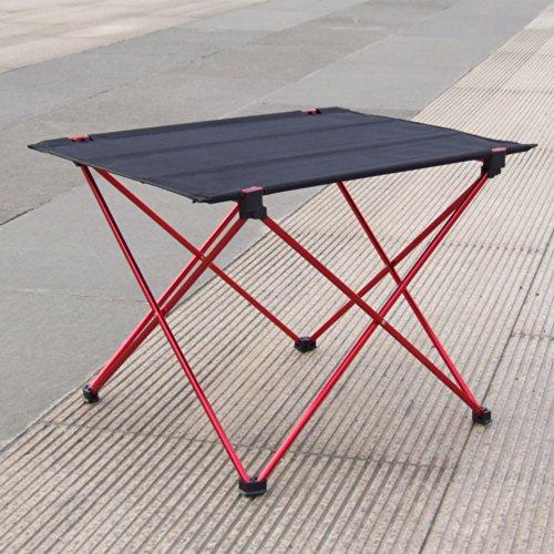 DocoolerPortable Foldable Folding Table Desk Camping Outdoor Picnic 7075 Aluminium Alloy Ultra-light Black Red
