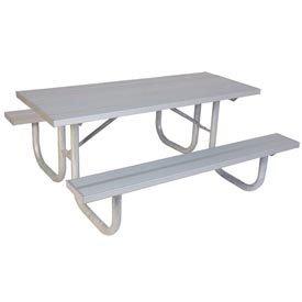 8 Extra Heavy Duty Picnic Table Aluminum 96L X 68W