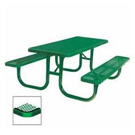 8 Extra Heavy Duty Picnic Table Diamond 96W X 70D Green