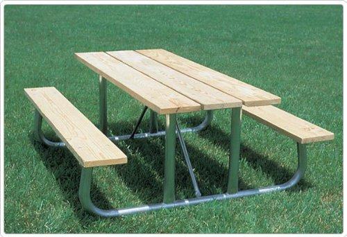Sports Play 602-504 Heavy Duty Picnic Table - 8 Aluminum