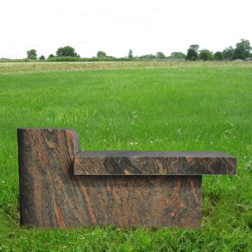 Paradisio Cremation Bench Granite Monument Gravemarker Gravestone Mn-123