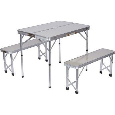3 Piece Aluminum Outdoor Folding Picnic Table Set