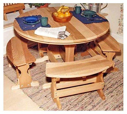 Creekvine Designs Round Cedar Picnic Table Set