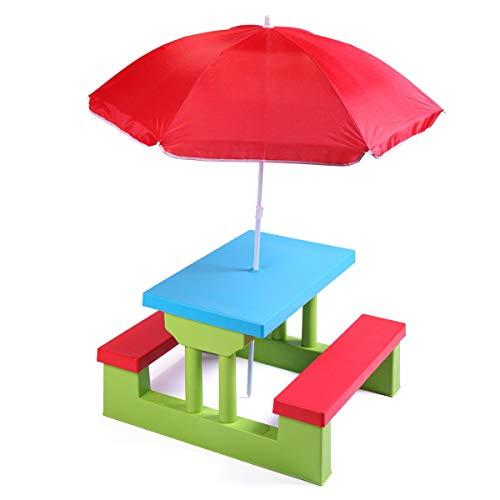 AlekShop Table Garden Play Kids WUmbrella Play Bench Furniture Outdoor Picnic Seat Children