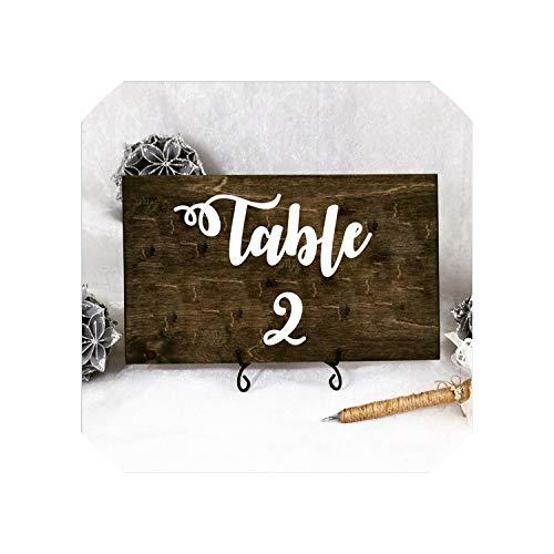 Wedding Table Number Vinyl Decals Removable Waterproof Table Plan Vinyl Sticker Wedding Centerpiece Bridal Shower DecorBlack Table 1-108x8 cm