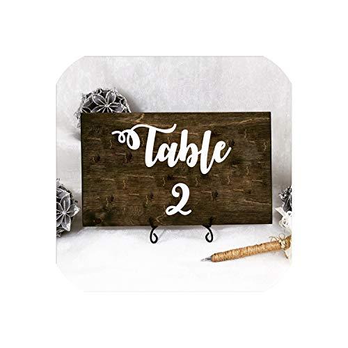 Wedding Table Number Vinyl Decals Removable Waterproof Table Plan Vinyl Sticker Wedding Centerpiece Bridal Shower DecorBlack Table 1-2015x15 cm