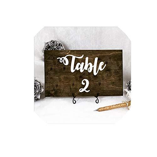 Wedding Table Number Vinyl Decals Removable Waterproof Table Plan Vinyl Sticker Wedding Centerpiece Bridal Shower DecorWhite Table 1-2015x15 cm
