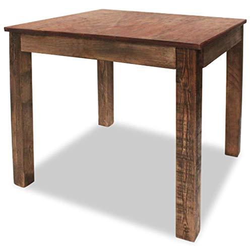 vidaXL Solid Reclaimed Wood Dining Table 323 Rustic Dining Room Furniture