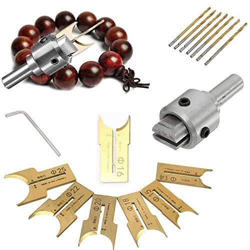 Durogs Buddha Beads Ball Router Bit Wooden Bead Maker Beads Drill Bit Milling Cutter Hardness Tungsten Steel Alloy Coated Cutter Woodworking Tools