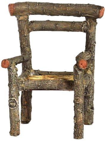 Top Collection Enchanted Story Garden Fairy Furniture Wooden Chair Outdoor Decor