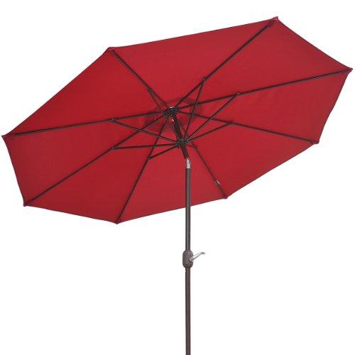 9 Parasol Patio New Garden Patio Umbrella Sunshade Market Outdoor-burgundy