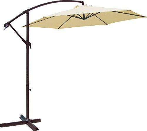 Goplus 10garden Patio Large Cantilever Umbrella Yard Sunshade Umbrella Stands Beach