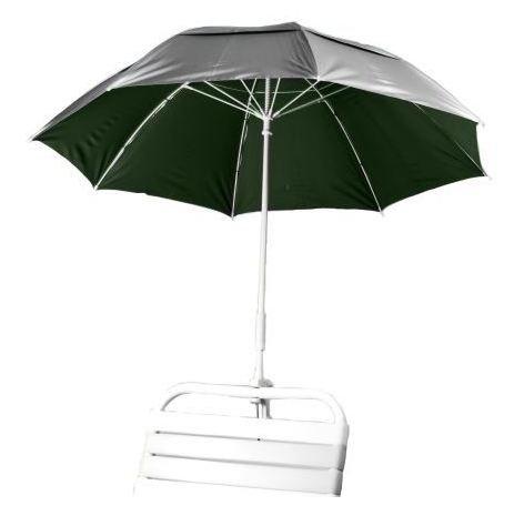 Clamp Fiberglass Beach  Rain Umbrella With Vent Upf 50 - Forest Green Inside