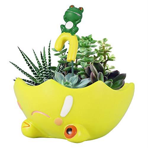 Jeffergarden Creative Resin Flowerpots Plant Flower Pot Umbrella Shape Home Decoration Garden Figurine Decor