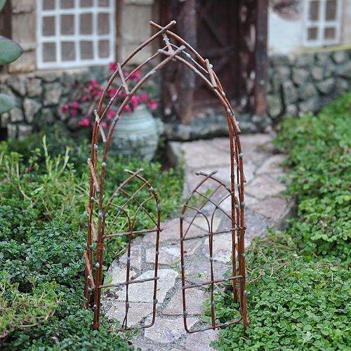 Miniature Fairy Garden Willow Arbor Rustic