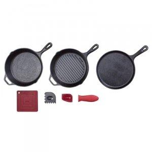 LODGE ESSENTIAL CAST IRON PAN SET