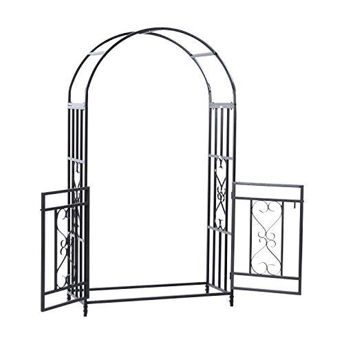 AyaMastro Outdoor 811 H Metal Garden Arbor Arch Climbing Planting wDouble Gate with Ebook