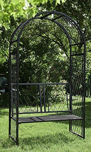 Lattice Arbor with Bench