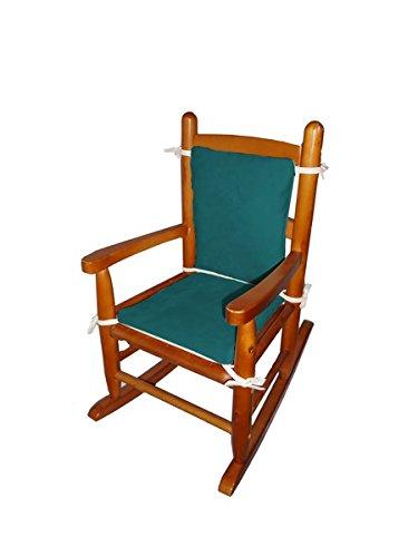 Baby Doll Bedding Suede Junior Rocking Chair Cushion Seafoam