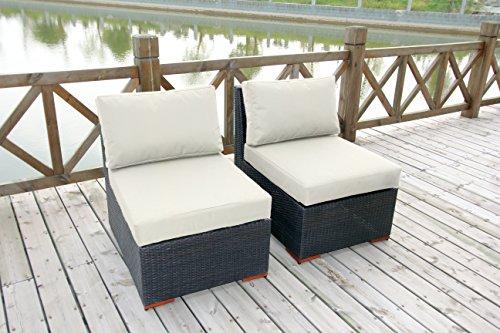 Bhg W771722b1004 Cibo Armlessslipper Chair Featuring Sunbrella Fabric 2 Pack Canvas Natural