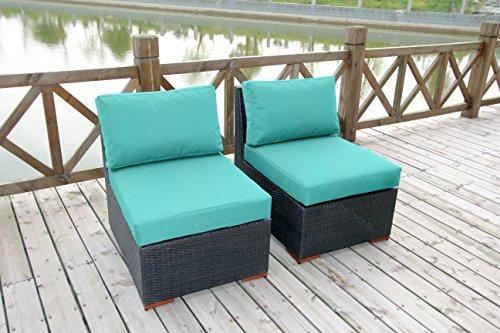 Bhg W771722b2009 Cibo Armlessslipper Chair Featuring Sunbrella Fabric 2 Pack Canvas Aruba