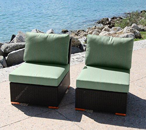 Bhg W921722a161 Angelique Armlessslipper Chair 2 Pack Dura-fast Flagship Blue
