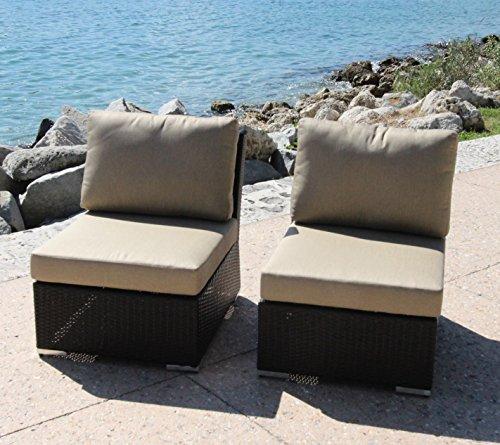Bhg W921722a162 Angelique Armlessslipper Chair 2 Pack Dura-fast Meridian Metals