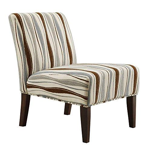 Havens Fabric Slipper Chair In Wavy Stripe