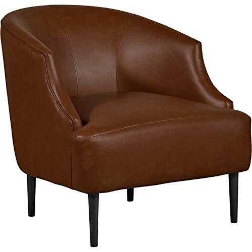 Tommy Hilfiger Jameston Leather Club Chair Brown