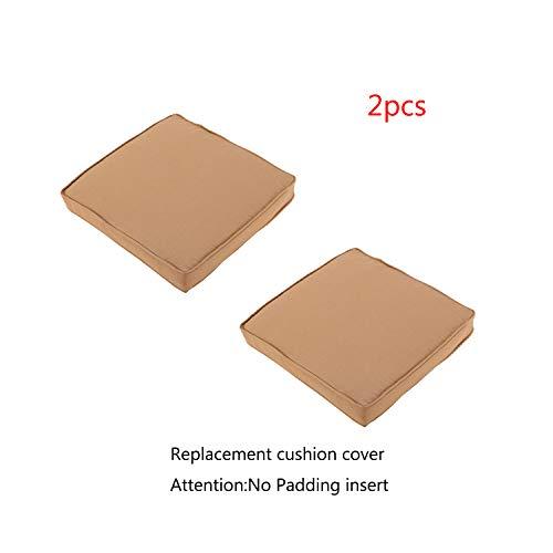 Do4U 2 Pcs Rattan Wicker Outdoor Dining Chairs Cushion Cover 2 Pcs Dark Brown Cushion Cover