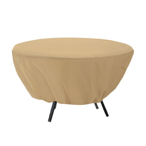 Classic Accessories Terrazzo Round Patio Table Cover - All Weather Protection Outdoor Furniture Cover 58202-EC
