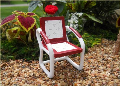 Fairy Garden Vintage Red Chair