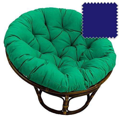 International Caravan Bali Rattan 42&quot Papasan Chair - Royal Blue