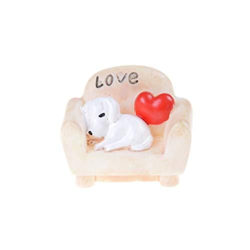 Accessories Accessories - Cute Sofa Dog Chair Bench Figurines Toys Miniatures Terrarium Micro Fairy Garden Decoration - Decorative Chair Chairs Accessories