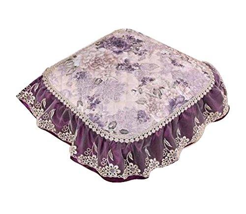 Dragon Troops Elegant Flower Pattern Chair Cushions Decorative Chair Pads44x42 cm Purple