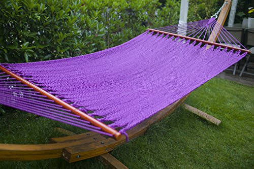 Merax Purple Durable High Quality 100 Cotton With Beautiful Wooden Bar Hammock Chair With Comfortable Experience