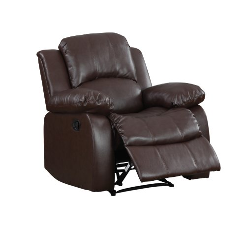 Homelegance Resonance 40 Bonded Leather Recliner Chair Brown