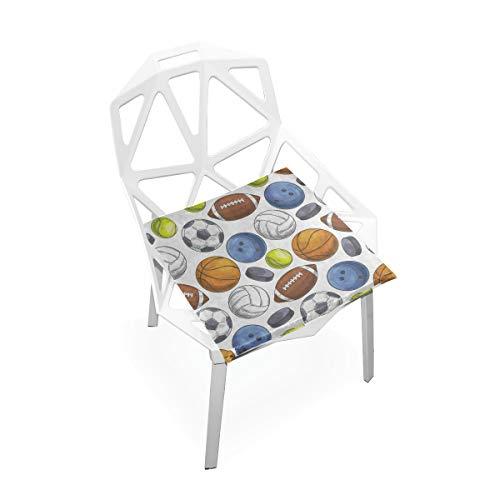 DERTYV Premium Comfort Memory Foam Seat CushionsHipster Sport Tennis Ball Basketball Soccer Chair Pads for Truck DriverKitchen ChairsCarOffice