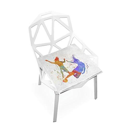 DERTYV Premium Comfort Memory Foam Seat CushionsWomen Soccer Chair Pads for Truck DriverKitchen ChairsCarOffice