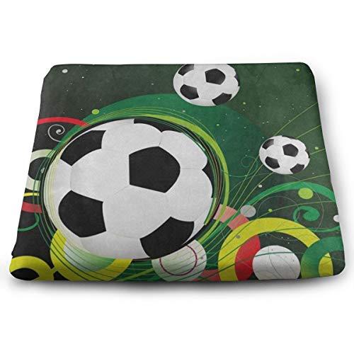 Ladninag Seat Cushion Sport Ball Football Soccer Chair Cushion Designer Offices Butt Chair Pads for Wheelchairs