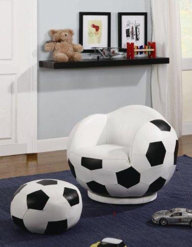 Soccer Chair Matching Ottoman made for Smaller Children
