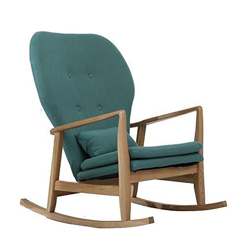 Nursery Rocking Chair on Your Patio Comfortable Relax Rocking Chair Lounge Chair Relax Chair Color  Green Size  60x93x81cm