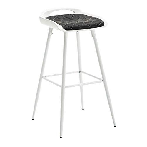 Xinhuatian Iron high bar Chair bar Stool bar Chair Creative Home Leisure Cafe Dining Chair 43 43 81CM Living Room Furniture Chair Color  Black1