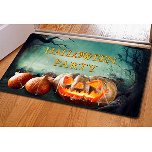 Coloranimal Front Door Mat Funny Halloween Party Non Slip Rectangle Area Rugs for Home Garden Bathroom Bedroom Living Room Kids Children Play