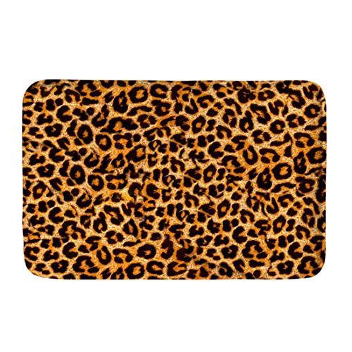 Coloranimal Leopard Rug for Washroom Bathroom Bedroom Kitchen Rectangle Area Carpets Softness Flannel Entrance Doormat Modern Rugs