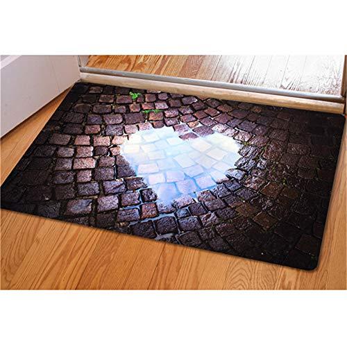 INSTANTARTS Rectangle Area Rug 3D Traps Print Rubber Doormat Porch Entryway Door Mat