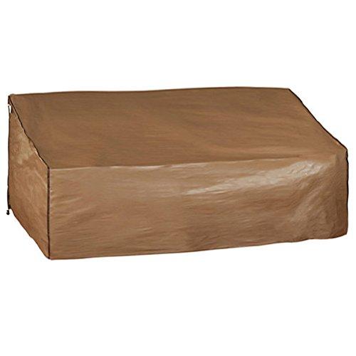 Abba Patio Outdoor 3-seat Patio Wickerrattan Lounge Porch Sofa Cover Water Resistant Brown