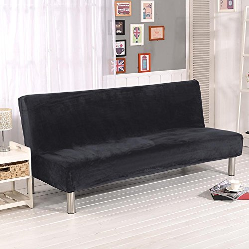 Urnanal Thicker Plush Sofa Slipcover Full Coverage Solid Color Stretch Sofa Cover Couch Soft Cover Slipcover Furniture Protector Without Armrest