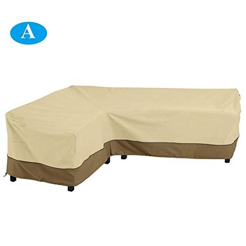 etateta Garden Patio Loveseat Furniture L Shaped Corner Couch Sofa Slipcover Protector Waterproof Cover 264x210CM Outstanding